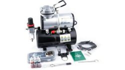 073-AS-186K Airbrush Set mit Kompressor 3-